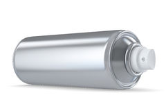 Grey spraycan laying Stock Photography