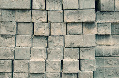 Grey square bricks stacked in rows Royalty Free Stock Image