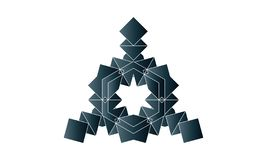 Grey Square Ornaments. Ornament is a decoration used to embellish parts of a building or object vector illustration