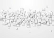 Grey squares abstract tech background Royalty Free Stock Photography