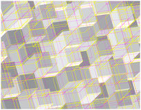Grey squares wallpaper. Colorful illustration of bright 3D squares and lines Royalty Free Stock Images