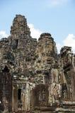 Grey stacks. The grey peaks of bayon temple cambodia Royalty Free Stock Photos