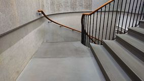 Grey staircase of a modern building royalty free stock images