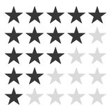 5 grey star rating icon vector eps10. rating star vector sign. royalty free illustration