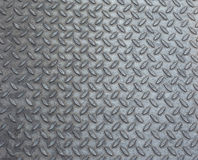 Grey steel diamond plate background Royalty Free Stock Photos