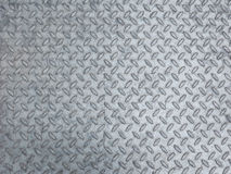 Grey steel diamond plate background Royalty Free Stock Image