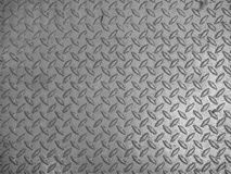 Grey steel diamond plate background Royalty Free Stock Images