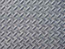 Grey steel diamond plate background Stock Image