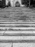 Grey Steps av den nationella domkyrkan arkivfoto