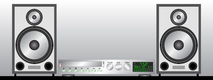 Grey Stereo System Stock Photography