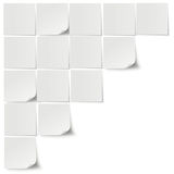 Grey Stickers Stock Photography