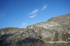 Grey stone and blue sky. National park Koli, Finland stock photo