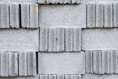 Grey stone bricks wall texture or background Stock Photography