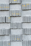 Grey stone bricks wall texture or background Royalty Free Stock Photos