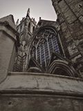 Grey Stone Cathedral Stained Glass Window Exterior Royalty Free Stock Photos