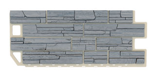 Grey Stone facade panel Royalty Free Stock Photos
