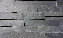 Grey stone faux brick wall Royalty Free Stock Photo