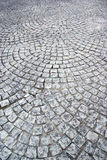 Grey stone pavement. Pavement made of grey stones Royalty Free Stock Image