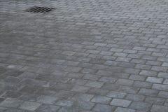 Grey stone pavement Stock Image