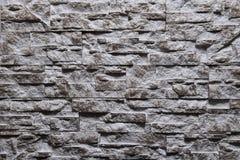 Grey Stone-van de muurtextuur natuurlijke kleur als achtergrond Royalty-vrije Stock Foto