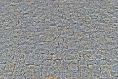 Grey stone walk in perspective. Grey stone (granite) path in perspective useful for background Stock Photos