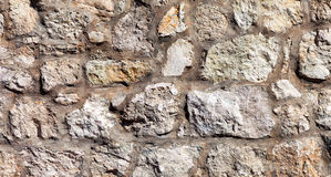 Grey stone wall as background Royalty Free Stock Images