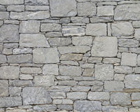 Grey stone wall closeup Royalty Free Stock Image