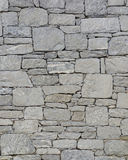 Grey stone wall closeup Stock Photography