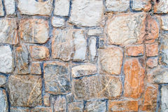Grey stone wall. With grey concrete lines Stock Image