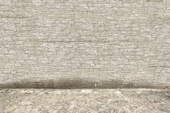 Grey Stone Wall and Floor Stock Photography