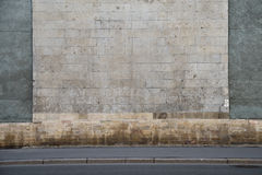 Grey stone wall with vertical bars Royalty Free Stock Photography
