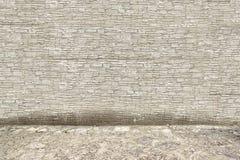 Grey Stone Wall y piso Fotografía de archivo