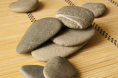Grey stones. Smooth and water-washed stones Royalty Free Stock Image
