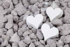 Grey stones with heart Royalty Free Stock Photos
