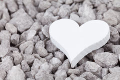 Grey stones with heart Royalty Free Stock Photo