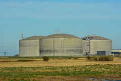 Grey Storage tanks Royalty Free Stock Photos