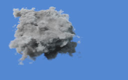 Grey storm cloud on a blue sky Royalty Free Stock Photo