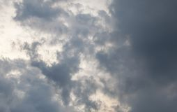 Grey storm cloud after raining. In thailand stock photography