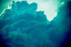 Grey Storm Clouds Filtered escuro Imagem de Stock