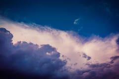 Grey Storm Clouds Filtered foncé Photo stock