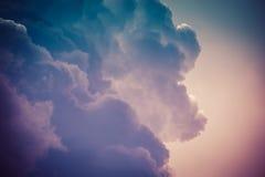 Grey Storm Clouds Filtered foncé Photos stock