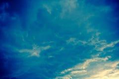 Grey Storm Clouds Filtered foncé Images libres de droits