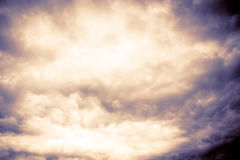 Grey Storm Clouds Filtered sinistre Image libre de droits