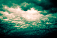 Grey Storm Clouds Filtered sinistre Photo stock