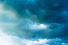 Grey Storm Clouds Filtered sinistre Photos libres de droits