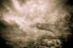Grey Storm Clouds Filtered sinistre Photographie stock libre de droits