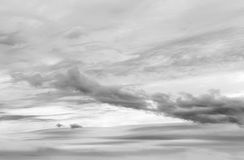 Grey storm clouds. In sky royalty free stock photos