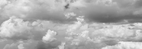 Grey storm clouds. In sky stock photography