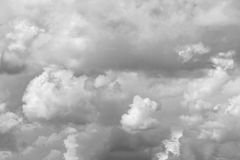 Grey storm clouds. In sky royalty free stock photography