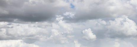 Grey storm clouds. In sky stock photos